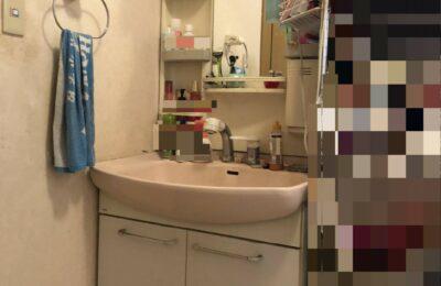 洗面化粧台改修前